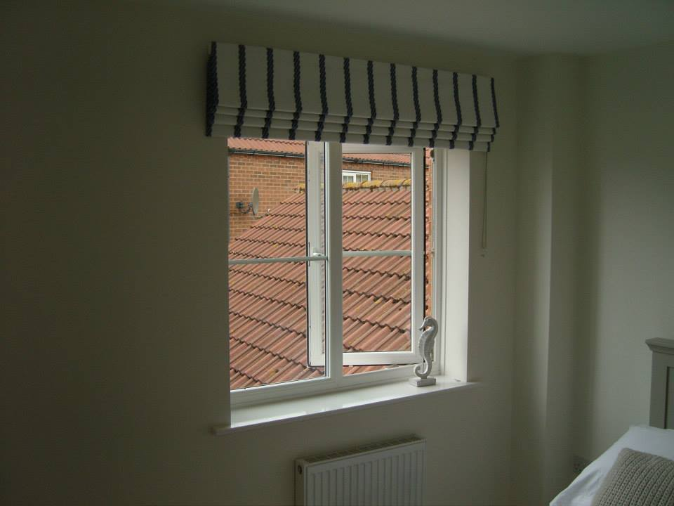 Roman Blind Outside The Recess In A Clarke Clarke Fabric