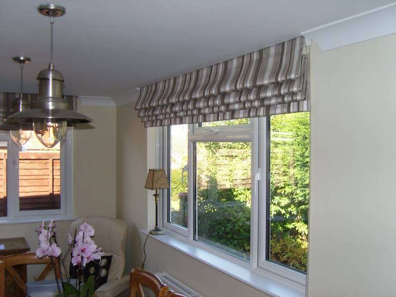 Roman Blind Fitted Up To Ceiling Angelinas Curtains And